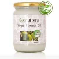 Кокосовое масло Econutrena, Х/О, органика (Virgin Coconut Oil organic), 500 мл